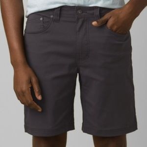 Prana Brion Shorts Dark Gray Charcoal size 40x9
